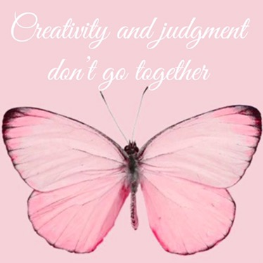Creativity and judgment don't go together